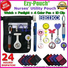 Quality Ezy-Pouch Nurse Pouch+Metal Watch+Extra Battery+ Pen light Pick Bonus