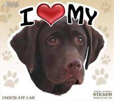 """I Love My Chocolate Lab Dog 4"""" Car Home Sticker Decal Labrador Retriever"""