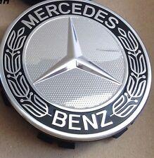 Genuino Mercedes-Benz de aleación Cubo De Rueda cap/centre PAC (juego De 4) Azul