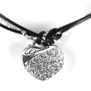 GUESS Armband Armkette Damen Schmuck MY HEART IN A BOX Messing Silber Zirkonia