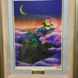 Used 2001 Disney Aladdin Whole New World Cel Picture Silk Screen L77cm W62cm