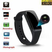1080P 32GB Spy Night Vision Hidden video Camera Wrist Watch IR Waterproof DVR QF