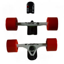 Easy People Longboards White Truck set Red wheels,Spacer,ABEC-7