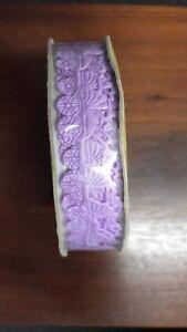 NEW Lavender Nylon Dye Cut Baby Ribbon