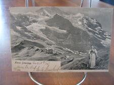 """1905 """"Kliene Scheidegg"""" Switzerland Postcard"""