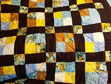 Home made King Quilt teal, blue, and greens