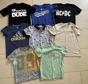 Lot Of 8 Boys Tee's Size Small (5-6) Gymboree Adidas