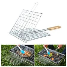 Barbecue Meshes Grill Net Tool Rack Fish Vegetable BBQ Clip Folder Roast Basket
