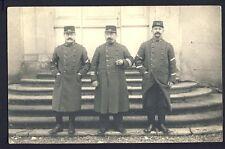 Carte Postale Photo MILITAIRES SOLDATS Gradées en Uniforme du 63ème Régiment