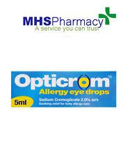 Opticrom Allergia collirio per occhi raffreddore da fieno - 5 ML cromoglicate di sodio 2% P/V