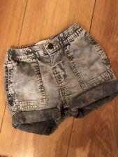 Zara Acid Wash Grey Shorts 6-9 Months Nnwt