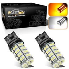 2x60 Amber 60 White 3528-SMD Dual Chip Switchback 7443 Front Turn Signal Lights