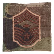 USAF OCP/Multicam Rank 2x2 With Hook Fastener - E9 Chief Master Sgt w/Diamond