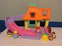 Fisher Price Disney Little People Rare Belle Cottage Klip Klop Beauty & The...
