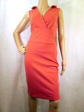 KARDASHIAN KOLLECTION Dark Blush Sleeveless Knit Stretch/Bodycon Dress, LARGE
