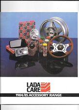 LADA gamma completa di modello accessori BROCHURE DI VENDITA AUTO 1984-1985 INC. LISTINO prezzi