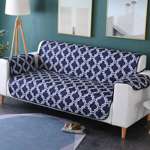 Seater Quilted Throw Waterfproof Sofa Cover Couch Protector Slipcover Mat Pad
