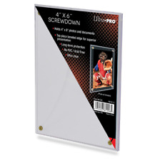 Ultra Pro 4x6 Screwdown Card Holder Postcard Photo 4 Screw Display Case 4