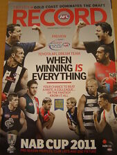 2011 AFL NAB CUP COMPLETE GUIDE RECORD PREVIEW & STATS