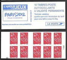 Carnet 3744 c1a  Marianne de Lamouche  carré noir