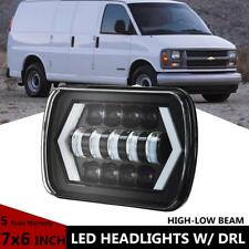 "7x6"" 55W LED Headlight Hi-Lo Halo DRL For Chevy Express Cargo Van 1500 2500 3500"