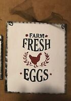 HAM /& EGGS pig chicken on back farmhouse Funny kitchen country wood decor sign