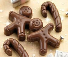 TWO Large Gingerbread Man Soap and One Cane xmas, christmas soap