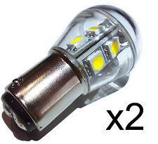 2x BA15D S8 9 LED Bulb Lamp 140 Lumen Cool White 10-30VDC 1142 Boat RV Landscape