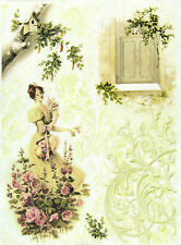 Rice Paper for Decoupage Scrapbooking Sheets Craft Lady in the Garden