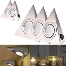 5X Dreieck LED Möbelschrankleuchte Küchenlampe Unterbauleuchte Strahler Warmweiß