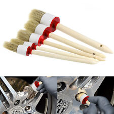5Pcs Wood Handle Soft Car Detailing Brushes for Cleaning Dash Trim Seats Wheels