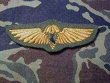 Rare obsolete CISKEI  Airborne Parachutist cloth Parachute  Jump Wings B&T 2404