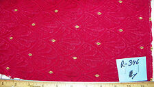 Red Large Shell Print Damask Upholstery Fabric  1 Yard  R346