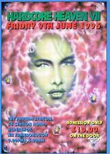HARDCORE HEAVEN Rave Flyer Flyers A4 9/6/95 Rhythm Station Aldershot