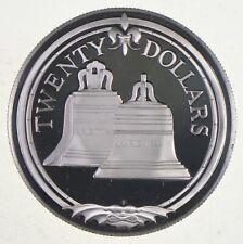 SILVER WORLD COIN 1985 British Virgin Islands 20 Dollars World Silver Coin *066