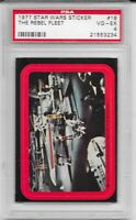 1977 Topps Star Wars Stickers Series 1 The Rebel Fleet 18 PSA 4 LOW POP
