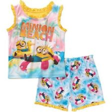 Girls Despicable Me Minions 2pc Pajamas Set New with Tags Size 4T Summer/Spring!