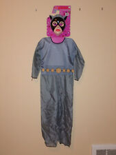HALLOWEEN BATMAN ANIMATED SERIES CATWOMAN FABRIC COSTUME WITH MASK CHILDRENS LG