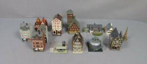 Collmer, Faller, Pola, Kibri & Other HO Scale Assorted Pre-Built Buildings [12]