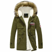 Men's Warm Winter Down Coat Fur Collar Parka Big Yard Long Cotton Jacket Coat V