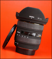 Sigma EX 10-20mm DC HSM F4-5.6 Zoom Lens for Canon + Front Rear Lens Cap & Hood