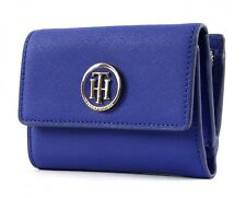 TOMMY HILFIGER Honey Medium Flap Wallet Geldbörse Surf The Web Blau