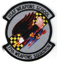 OLD USAF patch - 77th Weapons Squadron - Nellis AFB - Nevada - 1980-1991