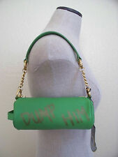 Juicy Couture DUMP HIM Shamrock Green Genuine Leather Small KATE Barrel Handbag
