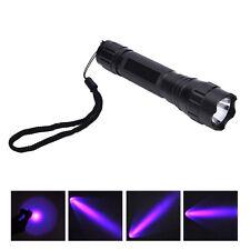 UV WF-501B LED 365NM Ultra Violet Blacklight Flashlight Torch 18650 Light Lamp~