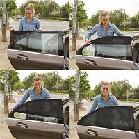 2pcs Car Rear Window Sun Visor Mesh Cover Shield UV Sunshade Curtain Accessory