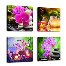 Canvas Prints Pictures Of Flowers For Bathroom Living Room Framed Wall Decor