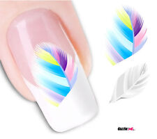 Nail Art Sticker Water Decals Transfer Stickers Multi Coloured Feathers (DX1561)