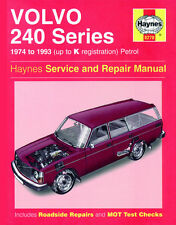 0270 Haynes Volvo 240 Series Petrol (1974 - 1993) up to K Workshop Manual