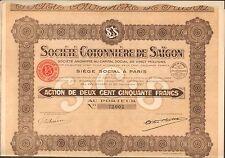 Société COTONNIÈRE de SAÏGON (INDOCHINE) (E)
